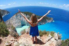 VISIT GREECE| Jessica Stein in Greece, Navagio, Zakynthos, June 13, 2013