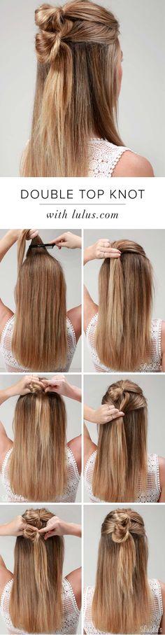 Cómo hacer: Tutorial doble nudo superior del pelo