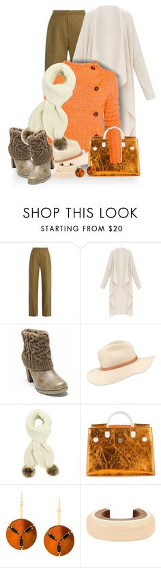 """Orange You Ready for Fall?  LOL!"" by sharonbeach ❤ liked on Polyvore featuring palmer//harding, Muk Luks, Vivienne Westwood Anglomania, rag & bone, Christian Dior, Marni, chunkyknits and DusterCoats"
