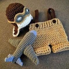 Check out my aviator outfit. It now includes a plane rattle toy! Cute baby boy outfits are great!
