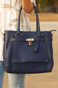 Now You Know Purse: Navy #shophopes