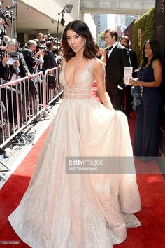 Actress Jacqueline MacInnes Wood walks in a #BERTA to the red carpet at the 43rd Annual Daytime Emmy Awards at the Westin Bonaventure Hotel on May 1, 2016 in Los Angeles, California.