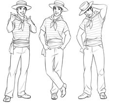 Man in a sailor suit character sketch, by Disney City Girl on Behance. City Girl Life, Girls Life, Character Sketches, Character Design References, Drawing Reference Poses, Art Reference, Disney City Girl, Fashion Sketch Template, Croquis Fashion