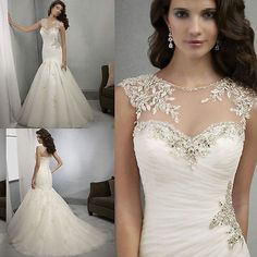 New White/ivory Wedding dress Bridal Gown custom size 6-8-10-12-14-16- ++++