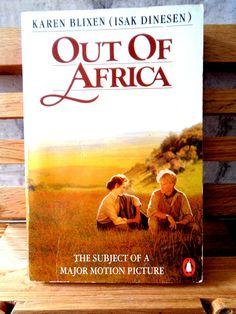 Karen Blixen Out of Africa Vintage Penguin paperback fiction book historical romance novel Kenya British Empire Denmark Danish Isak Dinesen by TrooperslaneBooks on Etsy