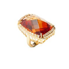 Go big and go bold with this honey of ring! An exquisitely cut vision in rich amber and gold, Giana will add equal parts drama and warmth to...