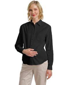 04d64cdca2d08 Port Authority L608M Maternity Long Sleeve Shirt BlackLight Stone L --  Visit the image link