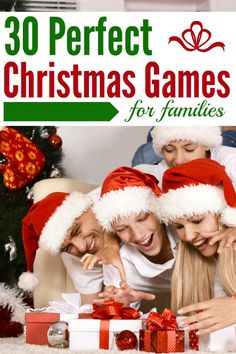 30 Perfect Christmas Games for Families to enjoy during the holidays! Free printables and homemade games to choose from.