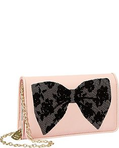 Flocked Bows Wallet On A String.  $68.