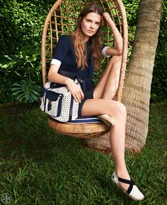 Get sporty: slip on a backpack | Tory Burch Spring 2014