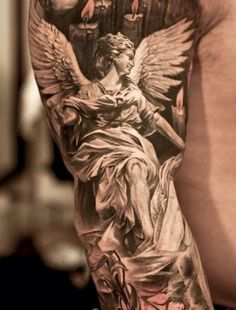 guardian angel tattoo ideas sleeve tattoos