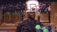 LeBron James vs Jimmy Fallon In Faceketball