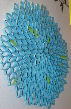 DIY Wall Art - Toilet Paper Rolls... Working on one of my own. Pin it when done.