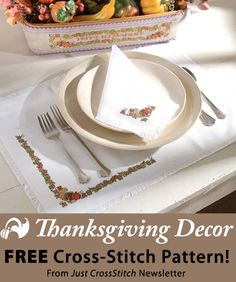 Thanksgiving Decor Download from Just CrossStitch newsletter. Click on the photo to access the free pattern. Sign up for the newsletter here: AnniesNewsletters.com