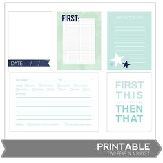 Milestones Firsts Printables by Two Peas @2peasinabucket