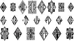 Moissanite Monogram Font