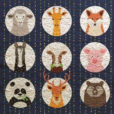 Animal Portraits Baby Quilt