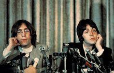 John & Paul Apple press conference