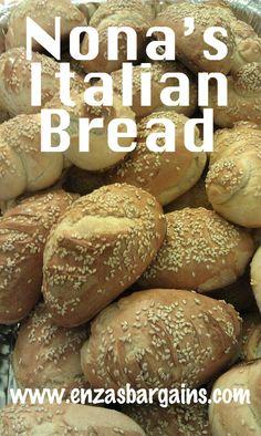 Homemade Italian Bread in 3 Steps!      Very few ingredients!!!