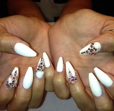 White + crystals