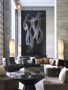 hotel lobby in natural colors en uitnodigende vormen Design Salon, Lobby Design, Design Hotel, Design Commercial, Commercial Interiors, Lounge Design, Lobby Interior, Interior And Exterior, Modern Interior