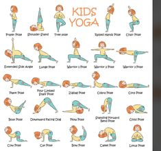 Kids Yoga Poses, Easy Yoga Poses, Yoga Poses For Beginners, Yoga For Kids, Exercise For Kids, Teaching Yoga To Kids, Children Exercise, Kid Yoga, Chico Yoga