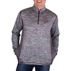 Ncaa Texas A Aggies Men's 1/4 Zip Athletic-Fit Fitness Jacket, Size: 3XL, Gray