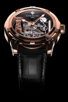 18K rose gold - Black dial - Derrick Gaz - Limited Editions - Louis Moinet