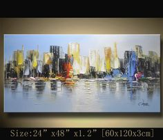 Original Abstract Painting Modern Textured Painting  Palette