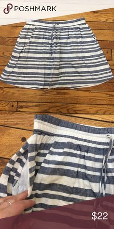 Striped Gap Skirt In perfect condition. Drawstring waist. Pockets on the sides. GAP Skirts