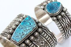 Spider Web turquoise cuffs ~ Sunshine Reeves