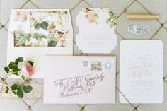 Floral patterned wedding invitation suite | Rensche Mari Photography | see more on http://burnettsboards.com/2014/02/sublime-springtime-wedding/