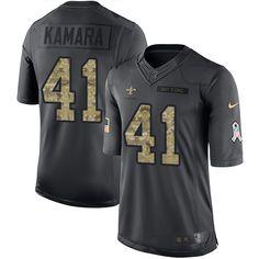 Nike Saints  41 Alvin Kamara Black Men s Stitched NFL Limited 2016 Salute  To Service Jersey d34c4cf03