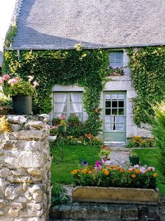 Cottage, Regneville sur Mer, Normandy, originally uploaded by *Susie*.I'm in love with this adorable cottage garden found on Susie's photostream.Related Posts:English Cottage G… Cottage Living, Cozy Cottage, Cottage Homes, Living Room, Little Cottages, Cabins And Cottages, Stone Cottages, Country Cottages, French Cottage