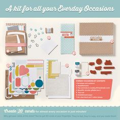 So in love with the new Everyday Occasions card kit!