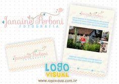 Serviço: Logo + Cartão + Flyer Cliente: Janaine Perboni Cidade: Antonio Prado - RS Logovisual é marcas com criatividade. #logovisual