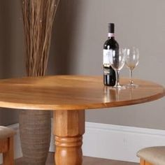 The Canterbury Oak Round Extending Dining Table, the perfect choice for those who appreciate well designed and crafted furniture Solid Oak Furniture, Find Furniture, Quality Furniture, Round Extendable Dining Table, White Buffet, Diy Store, Honey Colour, Canterbury, Types Of Wood