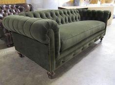 Moss Green Velvet Chesterfield - Sofas - Charlotte - COCOCO Home, inc.