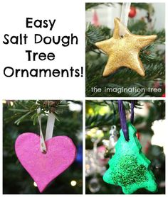 Easy Salt Dough Ornaments Tutorial - The Imagination Tree