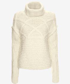 Apiece+Apart+fisherman+stitch+sweater,+$279,+available+at+Intermix.