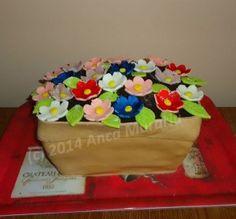 Tort Ghiveci cu flori   Blog Lumea Basmelor