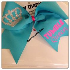 (do somersaults count?) count Cheer Bow by BowMamaCheerBows on Etsy, $8.50