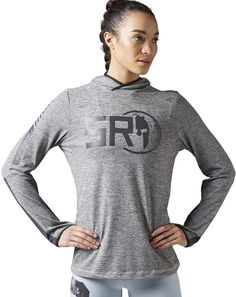 f26646764374ce Reebok SPARTAN Hooded Long Sleeve Tee - Women sYou know why you do it.