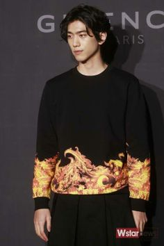 Bang Sung Joon @ GIVENCHY Opening Event April 2014     I want to wear this mens sweater!!
