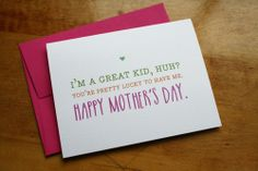 Mother's Day - Pretty Lucky, $4.00 by Colette Paperie