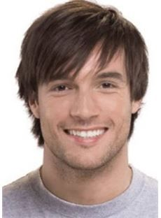 Men's Wig Short Straight Synthetic Hair Capless USD $61.99