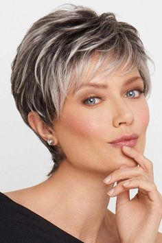 Hair Beauty - Crushing On Casual by Raquel Welch Wigs - Lace Front, Monofilament Wig Grey Wig, Short Grey Hair, Short Blonde, Short Hair Cuts For Women, Short Hairstyles For Women, Blonde Hair, Grey Short Hair Styles, Short Hair Over 60, Super Short Pixie Cuts