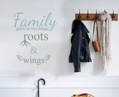 Check out Family gives us quote words wall decal vinyl sticker | 58cm x 69cm / 22 x 27 inches on vinylimpression