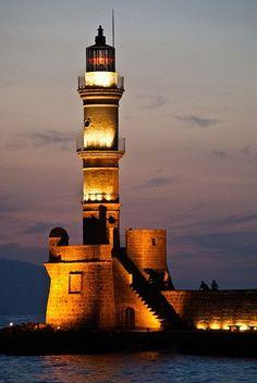 Chania Venetian Lighthouse, Greece.