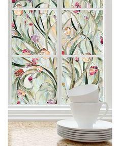 Artscape Spanish Garden Window Film 61 x 92 cm Spanish Garden, Stained Glass Window Film, Window Films, Privacy Window Film, Bathroom Window Privacy, Bathroom Window Treatments, Garden Windows, Window Decals, Window Art